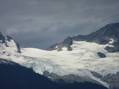 Glacier along the Sea to Sky Highway, BC, Canada