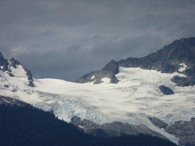 Glacier along the Sea to Sky Highway, BC, Canada