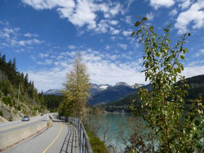 Road between Whistler and Pemberton, BC