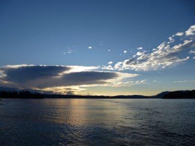 Sunset in Johnston Strait, Vancouver Island