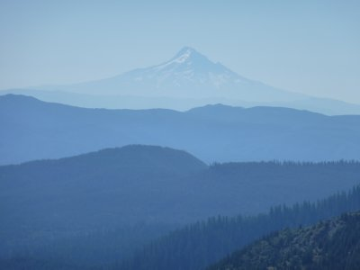 Mount Hood as seen from Mount St Helens