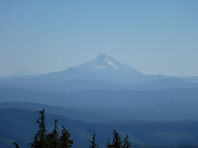 Mount Jefferson as seen from Mount Hood