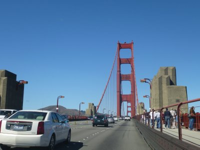 Entering the Golden Gate Bridge