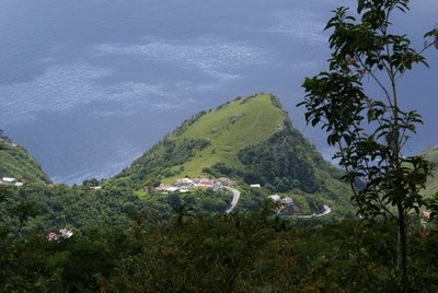 View of Saba from Mount Scenery