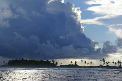 Clouds over Temoe Atoll