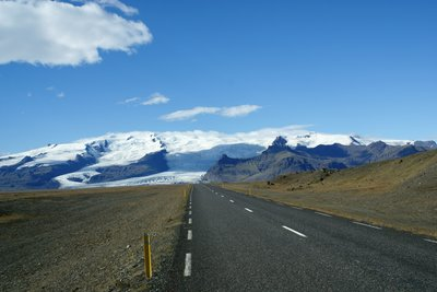 Driving to Skaftafell NP