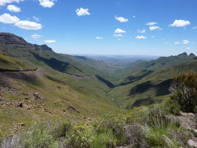 Magnificent drive in the Lesotho mountains
