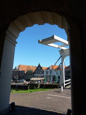 Typical Dutch bridge, Enkhuizen