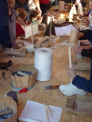 Making wooden shoes, Enkhuizen