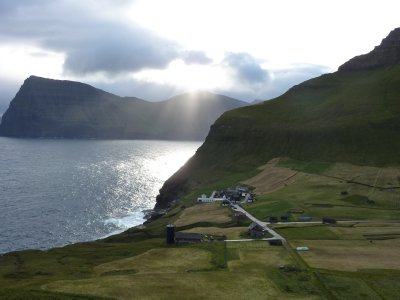 Trollanes town from above, Kalsoy island