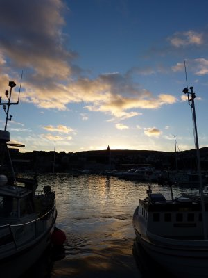 Tórshavn harbour at sunset