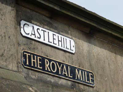 Start of The Royal Mile