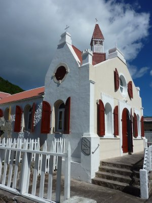 Church in Windwardside, Saba