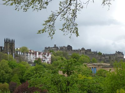 View towards Edinburgh Castle