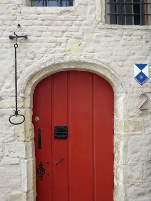 Colourful front door
