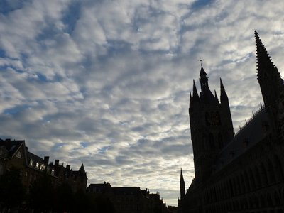 Ypres' Cloth Hall at Sunset