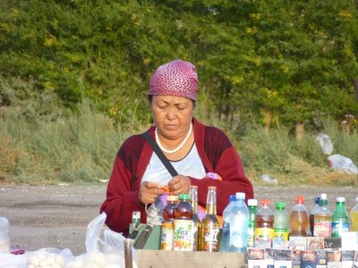 Selling Products along the road