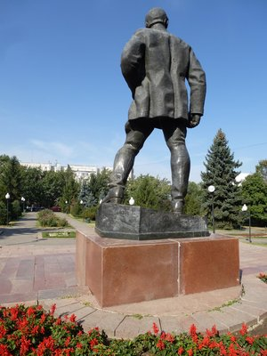 Statue in Almaty