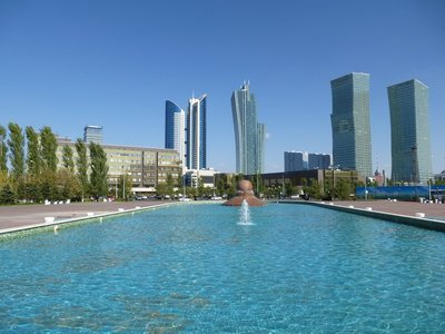 Northern Lights Towers & Kazakhstan Temir Zholy Building