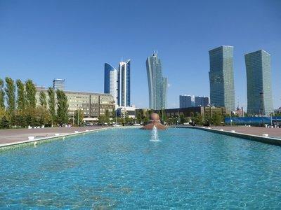 Northern Lights Towers & Kazakhstan Temir Zholy Building