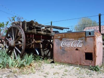 Vintage Coca-cola vending machine, Chimayo, New Mexico