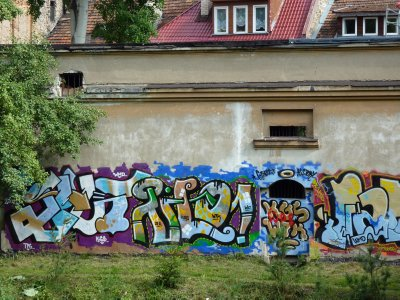 Graffity in the Uzupis District, Vilnius