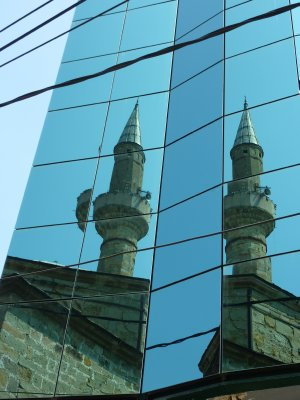 Old meets new in Pristina, Kosovo