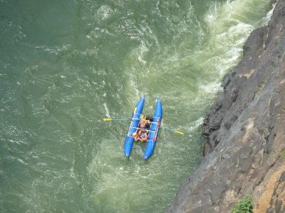 Going down the Zambezi River