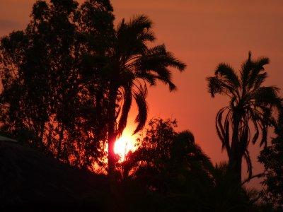 African sunset, Botswana
