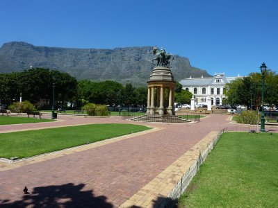 Table Mountain view from The Company Gardens, Cape Town