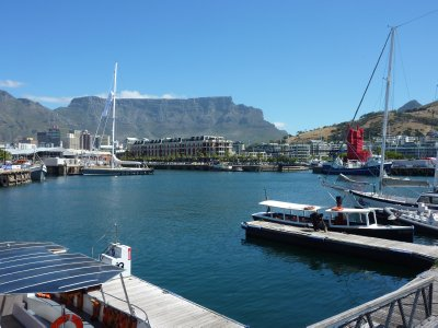 Table Mountain as seen from V&#38;A Waterfront