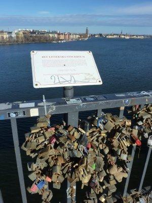Marriage locks at Stockholm bridge