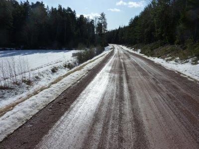 Snowy backroad