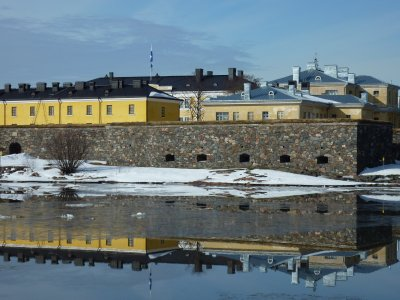 Approaching Suomenlinna fortress island