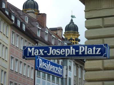 Munich streetname signs