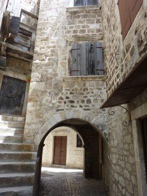 Trogir's old town alleys