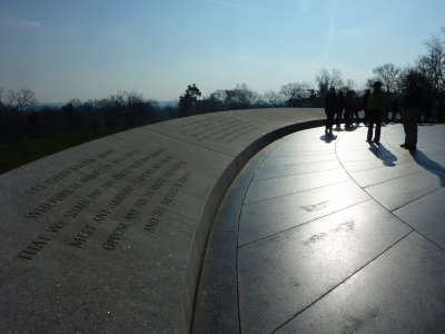 People at Arlington Cemetery