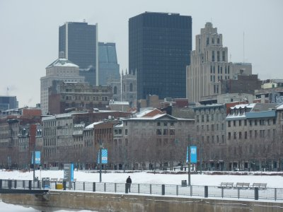 Montréal as seen from the old port