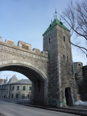 Old Quebec entrance gate