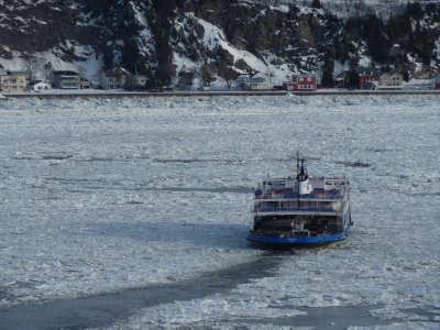The Quebec-Lvis ferry across the St Lawrence