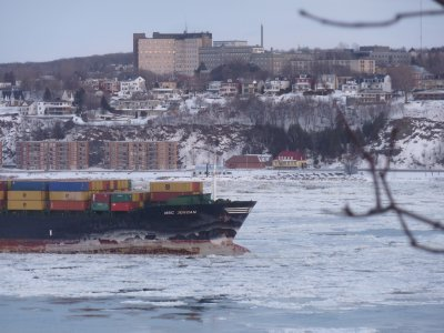 Freight ship, St. Lawrence River