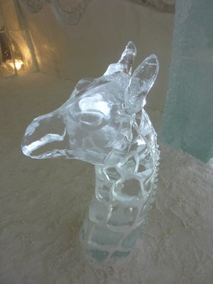 Sculpture in Ice Hotel