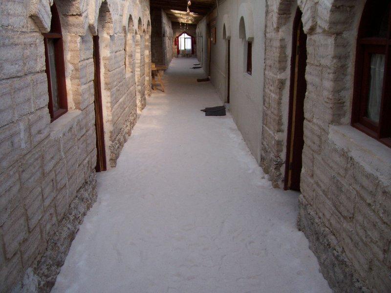 Inside a salt hotel