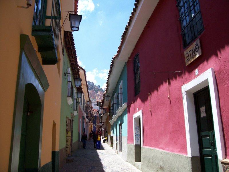 Colonial Calle Jaen street in La Paz