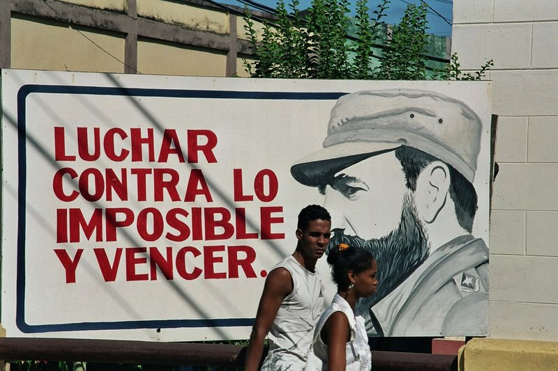 Fidel watches his people