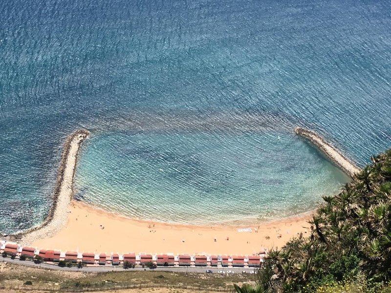 One of Gibraltar's few beaches