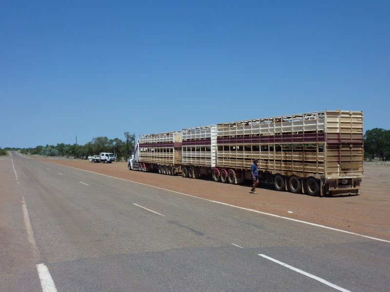 Road Train in Outback Queensland