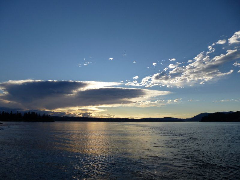 Sunset in Johnston Strait, Vancouver Island