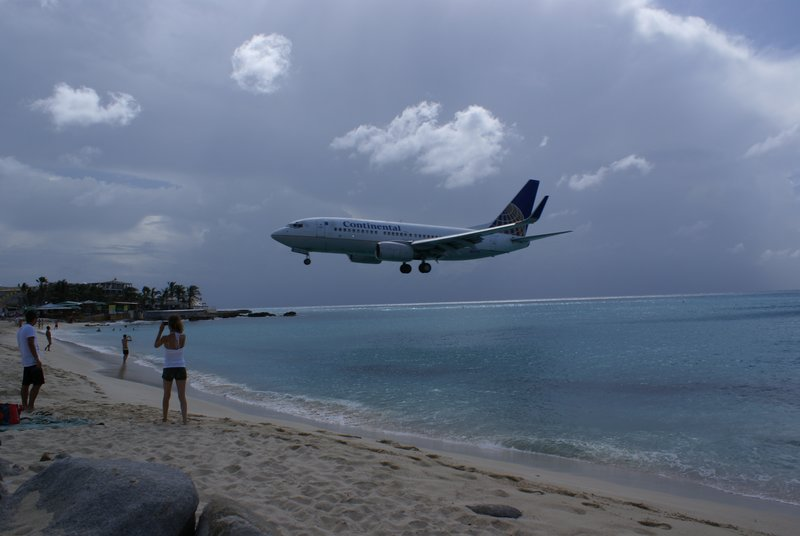 Plane at Maho Beach, Sint Maarten