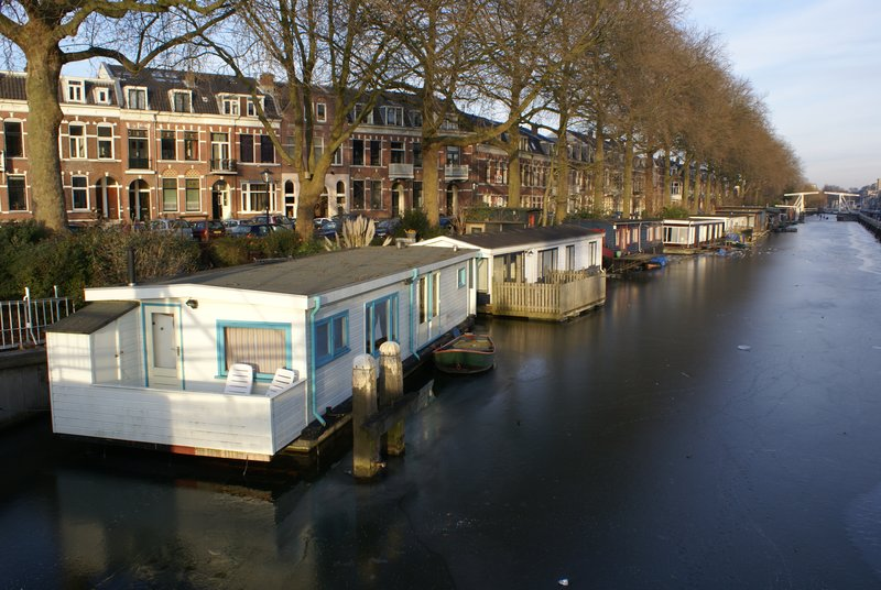 Frozen canal, Utrecht